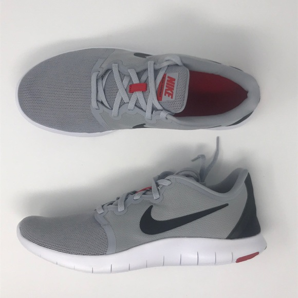 f4a10655bad1 Nike flex contact 2 grey gray black red men s